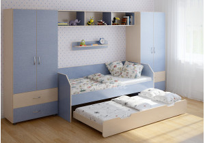 <span>Детская стенка с выдвижной кроватью</span> Легенда №15