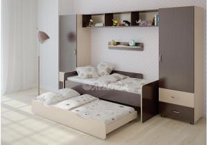 <span>Детская стенка с выдвижной кроватью</span> Легенда №16