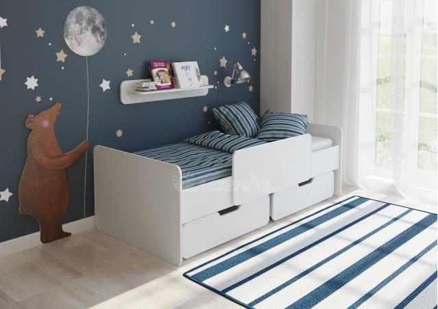 Детская кровать  Легенда 14.1 белая